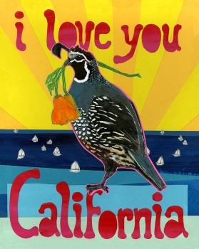 11x 14 Love California LP6 (LP6)