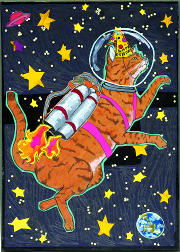 Astrocat Birthday C71 (C71) Greeting inside: Happy Birthday! Hope it's totally out of this world!