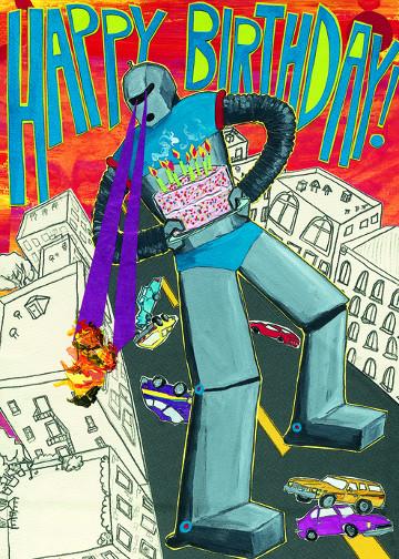 Bad Robot Birthday C84 (C84) Greeting inside: Blank inside