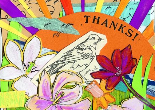 Bird Sketch Thanks C95 (C95) Greeting inside: Blank inside