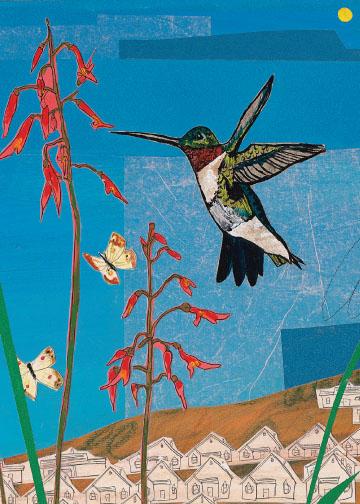 Blue Hummingbird C20 (C20) Greeting inside: Blank inside