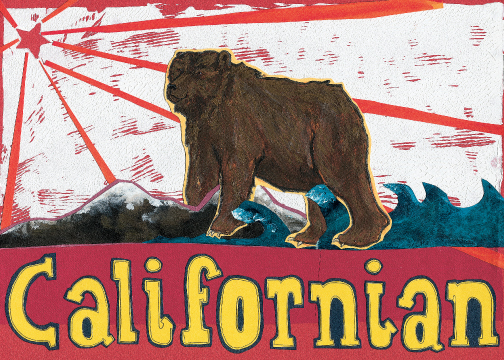 California Bear C42 (C42) Greeting inside: Blank inside