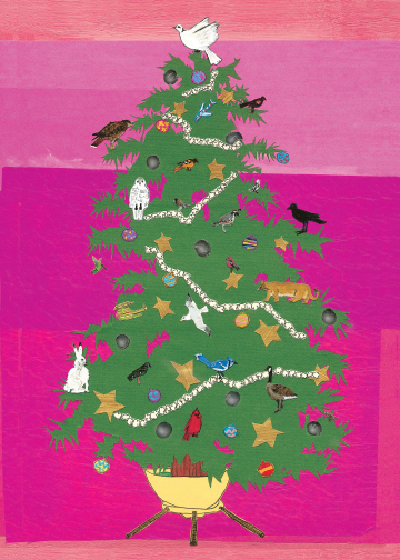 Christmas Tree CH3 (CH3) Greeting inside: Blank inside