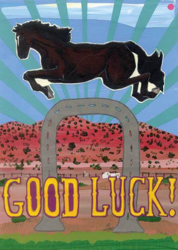 Good Luck C17 (C17) Greeting inside: Blank inside