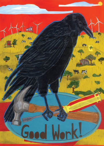 Good Work Crow C13 (C13) Greeting inside: Blank inside