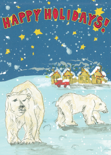 Happy Polar Bears CH1 (CH1) Greeting inside: Blank inside