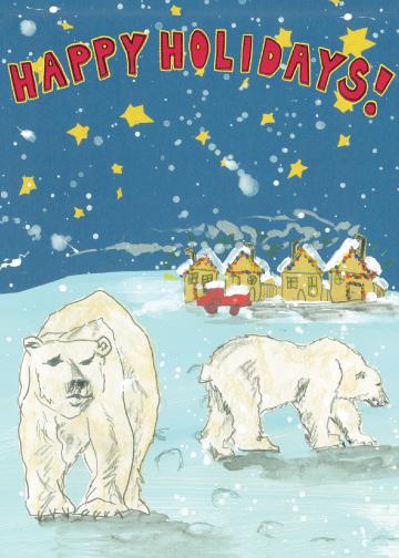 Happy Polar Bears CH1 (CH1) Greeting inside: Blank inside