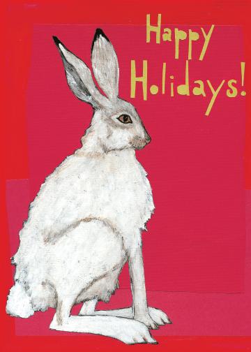Holiday Rabbit CH2 (CH2) Greeting inside: Blank inside