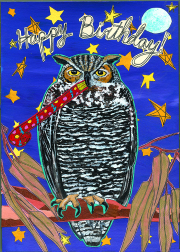 Hoot- Birthday C68 (C68) Greeting inside: Hope it's a real hoot!