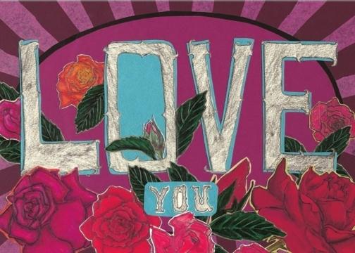 Love You Roses C34 (C34) Greeting inside: Blank inside