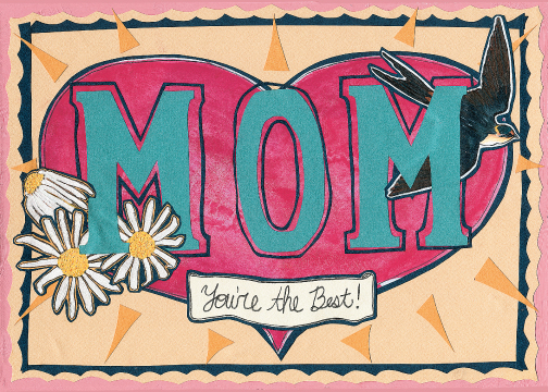 Mom's The Best C51 (C51) Greeting inside: Blank  inside