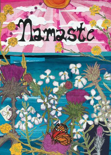 Namaste C4 (C4) Greeting inside: Blank inside