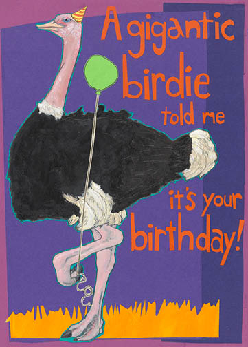 Ostrich C109 (C109) Greeting inside: Hope it's big time fun!
