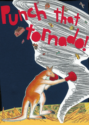 Punch That Tornado C101 (C101) Greeting inside: Get well soon!
