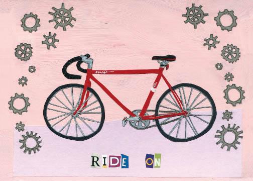 Ride On C25 (C25) Greeting inside: Blank inside