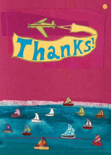 Thanks Boats C2 (C2) Greeting inside: Blank inside