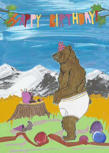 Underwear Bear C106 (C106) Greeting inside: Hope your birthday is that good!