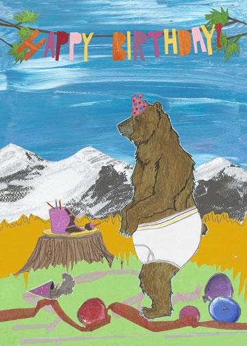 Underwear Bear C106 (C106) Greeting inside: Hope your birthday is that good!