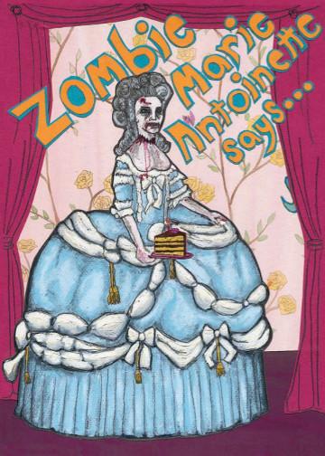 Zombie Birthday C93 (C93) Greeting inside: Happy Birthday! Now let us eat cake.