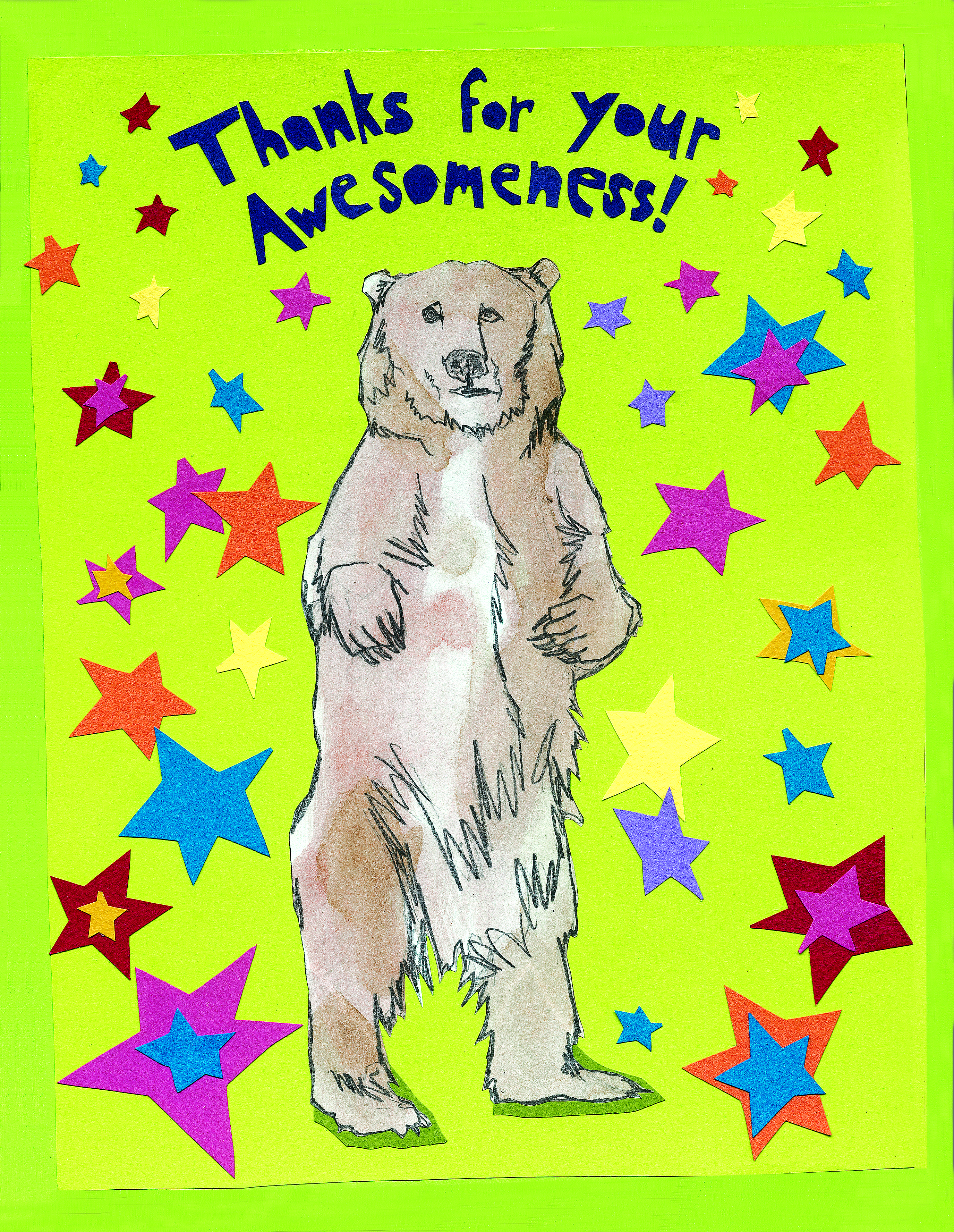 Awesomeness Bear C73 (C73) Greeting inside: Blank inside.