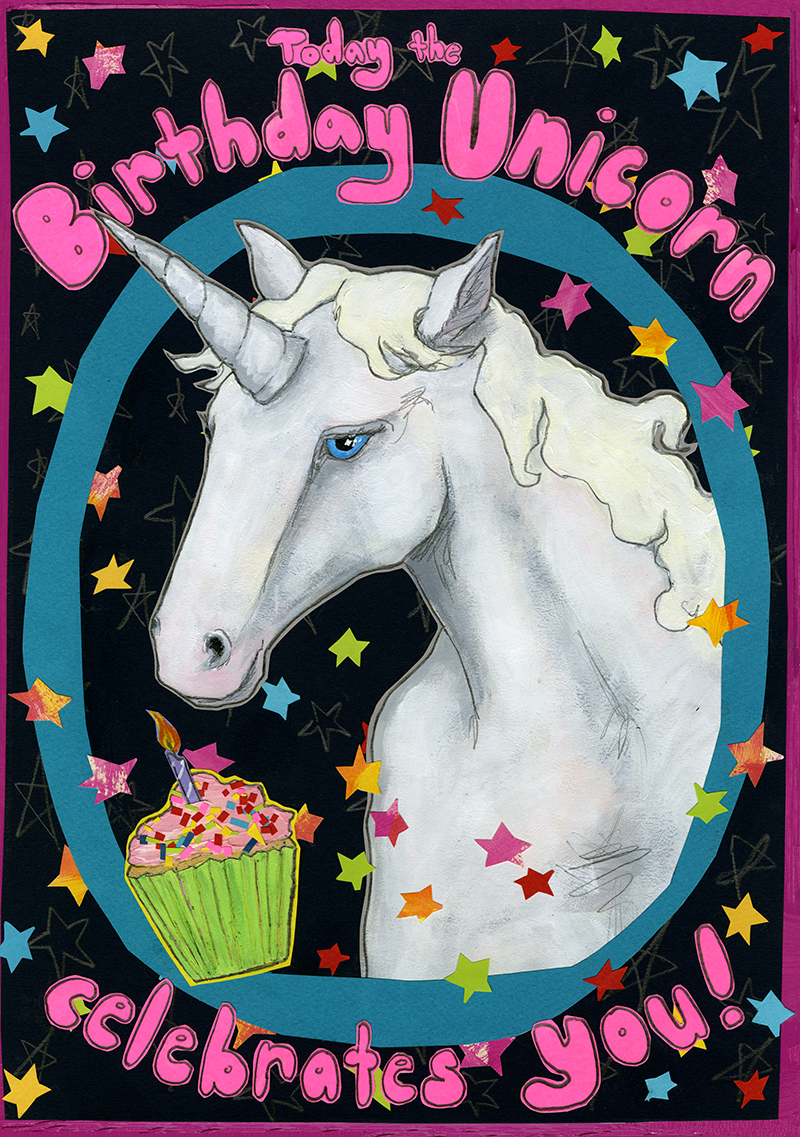 Birthday Unicorn C115 (C115) Greeting inside: Don't disappoint the Birthday Unicorn, have a magical birthday!