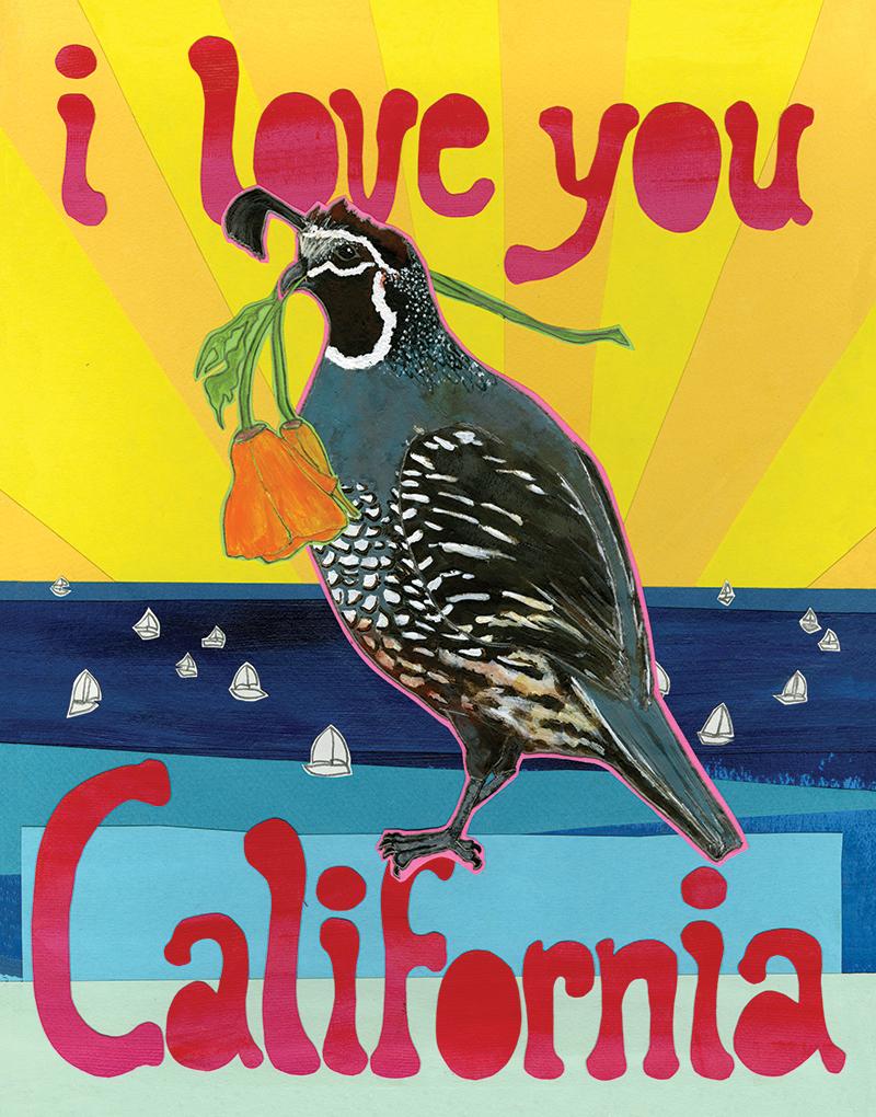 Love California C119 (C118) Greeting inside: Blank inside