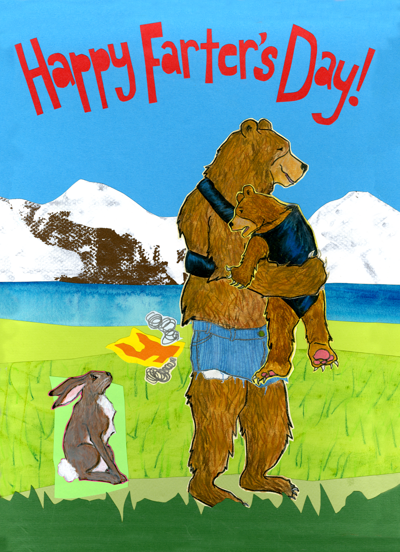Farter's Day C122 (C122) Greeting inside: Oops, I mean Father's Day! Hope it's rip roarin'!