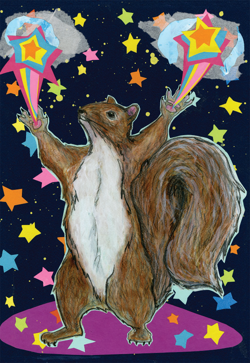 Magical Squirrel C125 (C125) Greeting inside: Never forget that there is magic inside you.