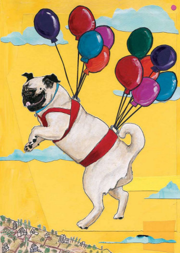Pug Birthday Card C92 (C92) Greeting inside: Have a puggin' fantastic birthday!