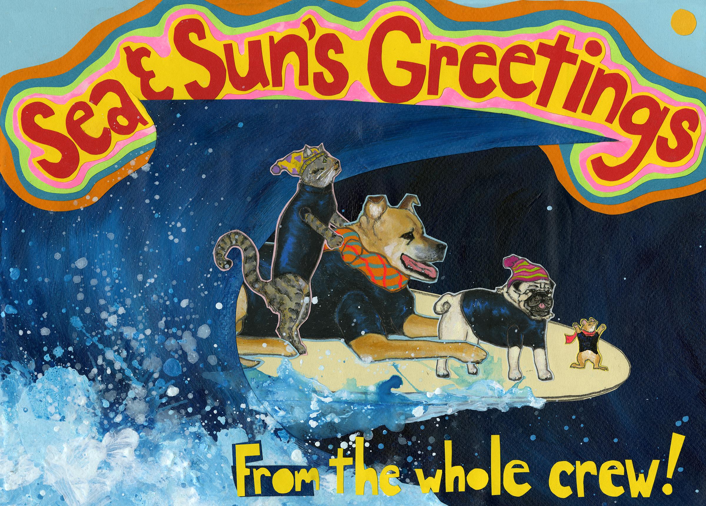 Sea & Sun's Greetings CH9 (CH9) Greeting inside: Blank inside