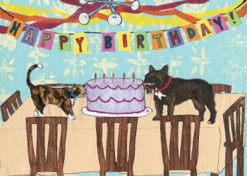 Bad Pet Birthday C41 (C41) Greeting inside: Have your cake and eat it too!