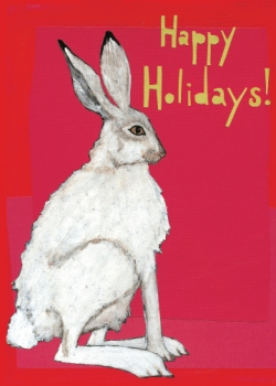 Holiday Rabbit CH2 (CH2) Greeting inside: Blank inside