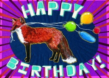 Foxy Birthday Card C40 (C40) Greeting inside: You get foxier every year!
