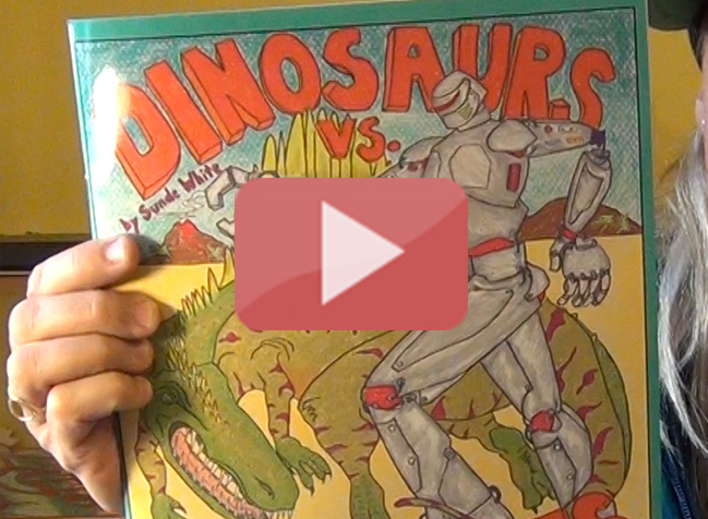 Sunde shares Dinos vs. Machines Coloring Book!