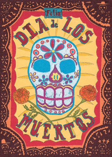 Feliz Dia de Los Muertos C53 (C53) Greeting inside: Blank inside