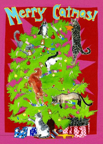 Merry Catmas CH7 (CH7) Greeting inside: Blank inside