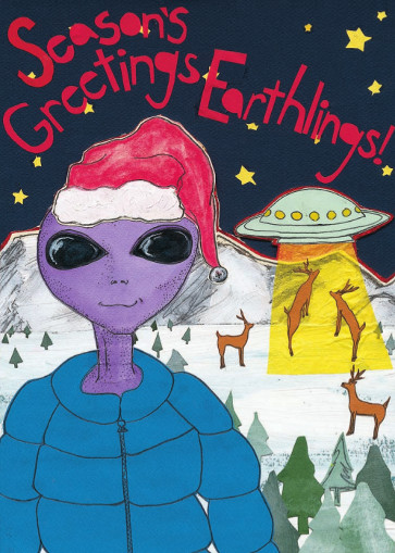 Seasons Greeting Earthlings CH6 (CH6) Greeting inside: Blank inside