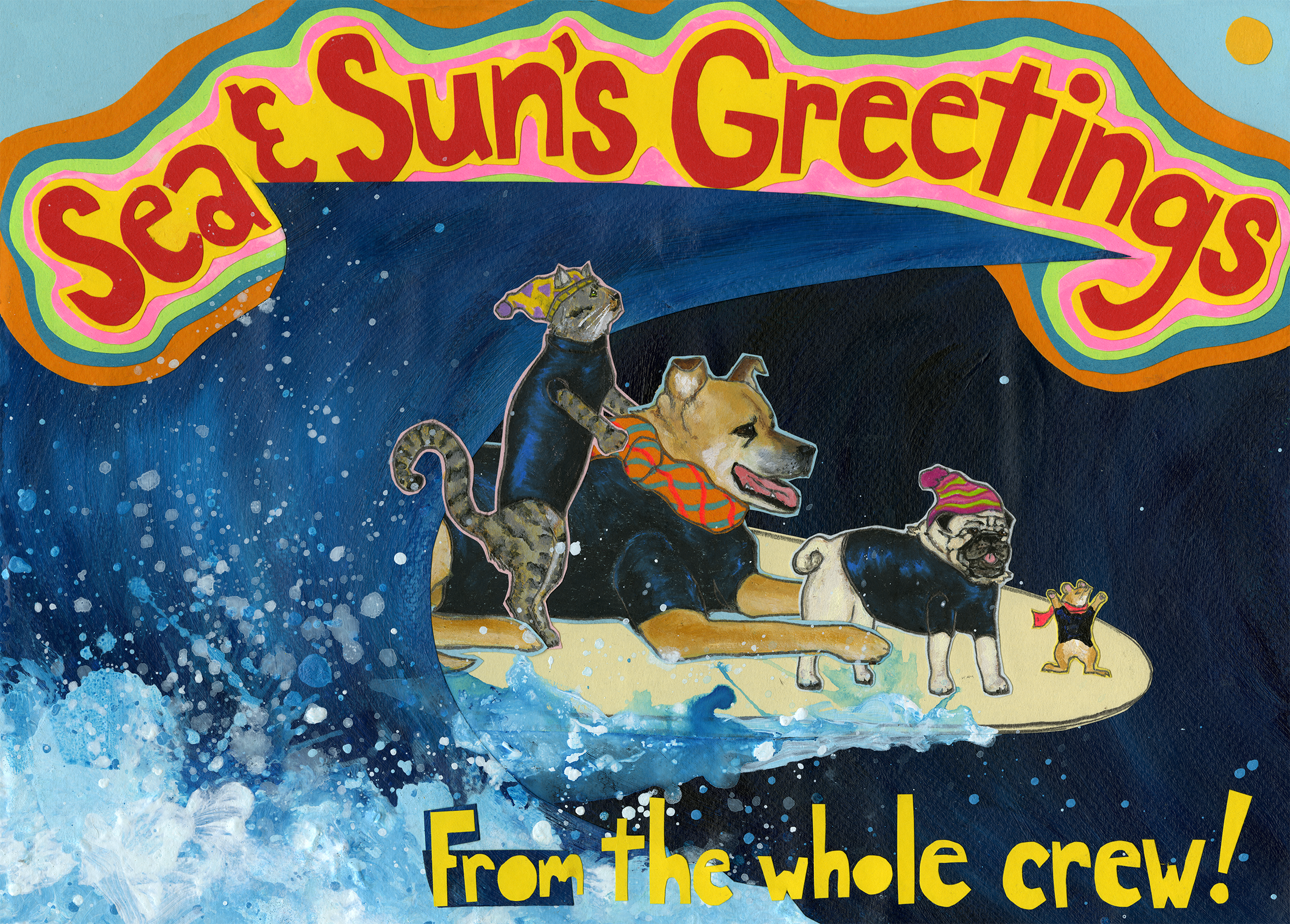 Sea & Sun's Greetings CH9 (CH9) Greeting inside: Blank inside