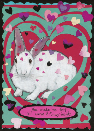 Warm and Fuzzy Rabbit C80 (C80) Greeting inside: Blank inside