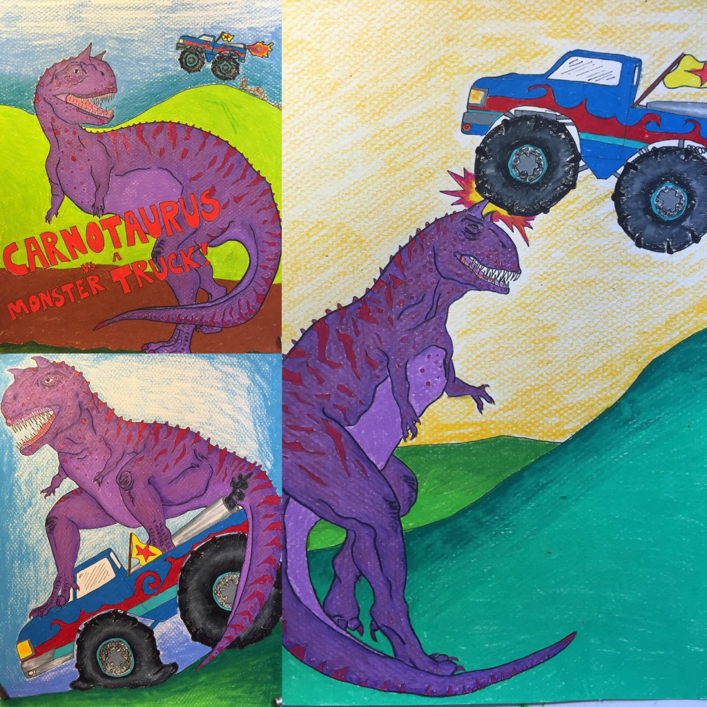 Carnotaurus vs. Monster Truck!!!!!