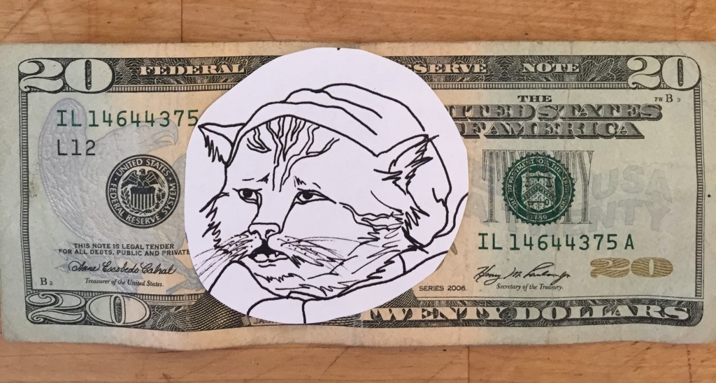 A Twenty dollar bill mock up by moi