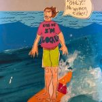 sunde white writes and illustrates her experience with localism and sexism while surfing