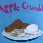 sunde white illustrates her apple crumble recipe