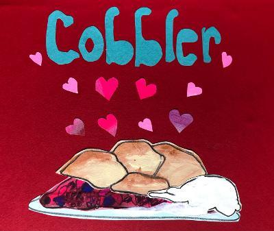 Sunde White illustrates her essay on how to make Berry Cobbler