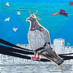 Sunde White illustrates a weird conspiracy theory about pigeons and power lines