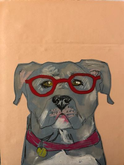 Sunde White illustrates her dog's book reviews