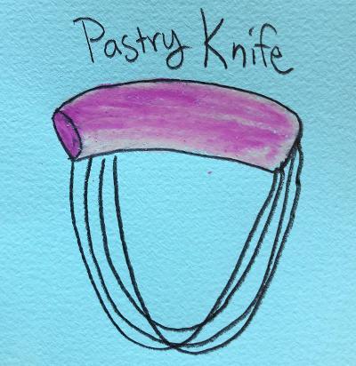 sunde whitre illustrates a pastry knife