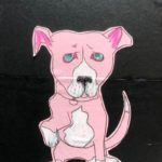 sunde white illustrates a story about her pitbull's sensitive paws