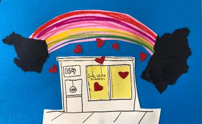 sunde white illustrates an image and essay about her gift shop