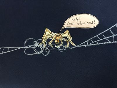 Sunde White illustrates her story about spider season